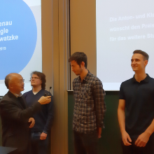 The winners of the Student Awards of the Anton and Klara Röser Foundation 2019
