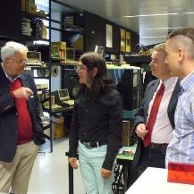 Herr Harms im Gespräch mit Klemens Krause, Ralph Braun und Christian Corti