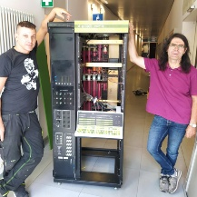 Zusammenbau des PDP12 im Computermuseum